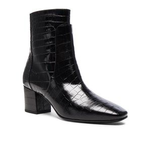 Givenchy Paris Croc Embossed Leather Boot